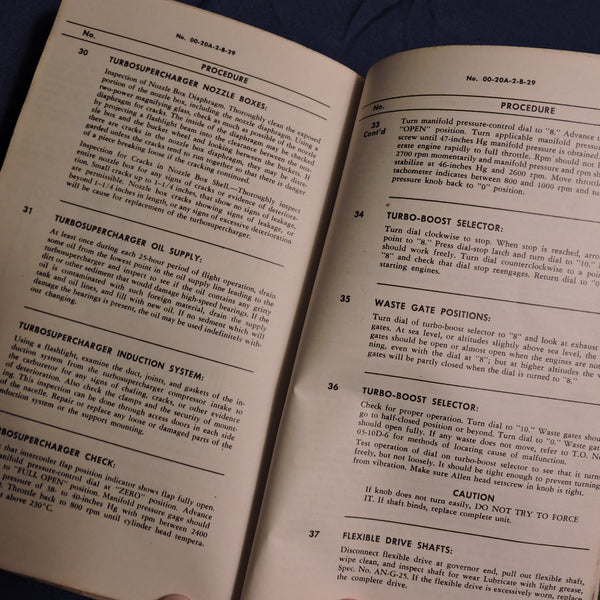 B-29 Superfortress Inspection and Maintenance Guide TO 00-20A-2-B-29