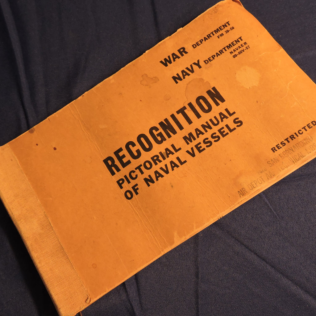 Recognition Manual, Naval Vessels, FM 30-50, 1943