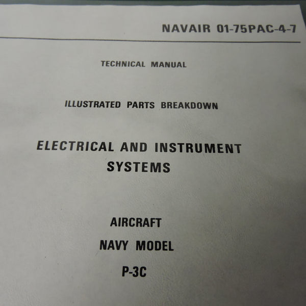 P-3C Orion Electrical and Instrument Systems Parts Manual 1974