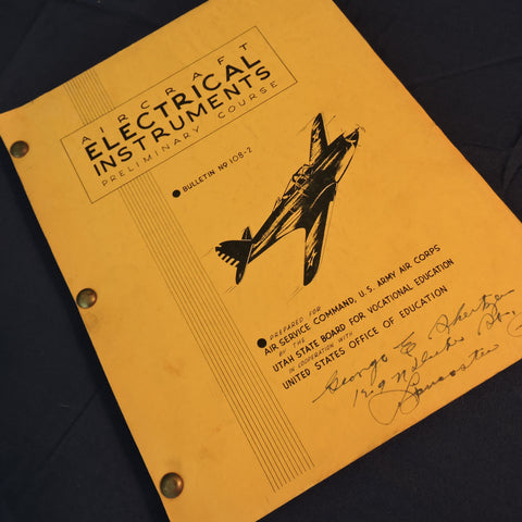 Aircraft Electrical Instruments Preliminary Course Instructions 1942