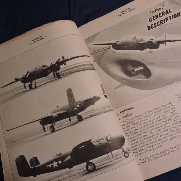 B-25G Mitchell Bomber Erection and Maintenance Manual TO No 01-60GC-2