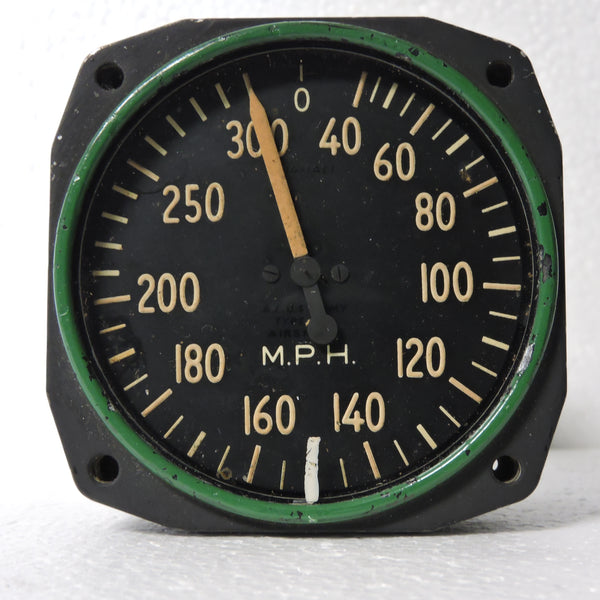 Airspeed Indicator, 300MPH, Army Type C-14, US Army Air Force, WWII