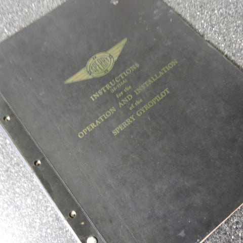 Sperry Aircraft Gyropilot Operation and Installation Manual 1936