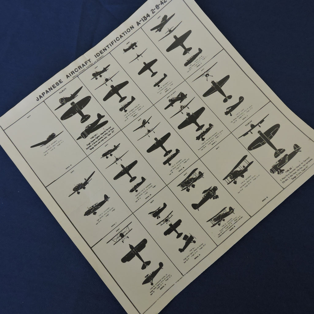 Recognition Card, Japanese Aircraft, 1942, A-134