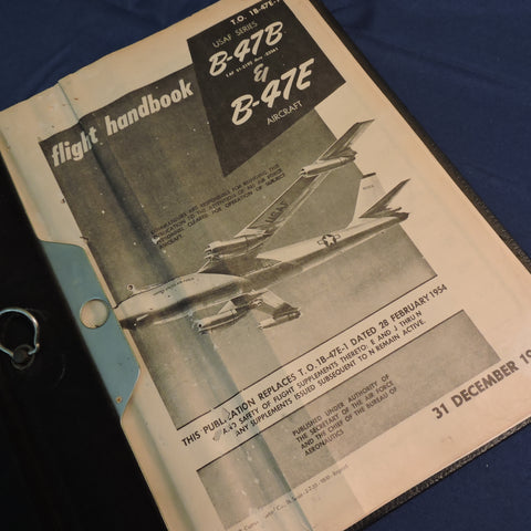 B-47B & E Stratojet Bomber Flight Manual 1954