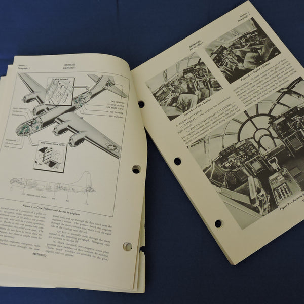 B-29/A Superfortress Bomber Pilots Flight Operating Instructions 1944