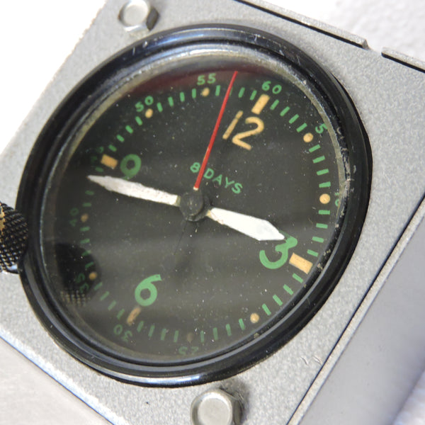 Aircraft Clock, 8-day, Type A-11 AN-5743-1 with Stand