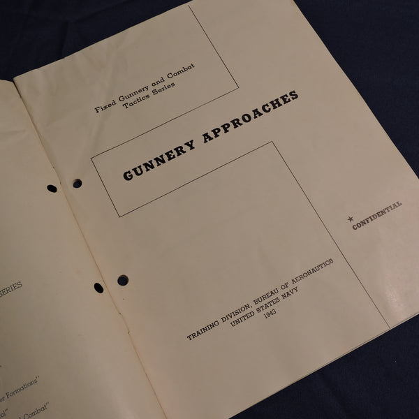 Gunnery Approaches, Training Booklet, US Navy 1943