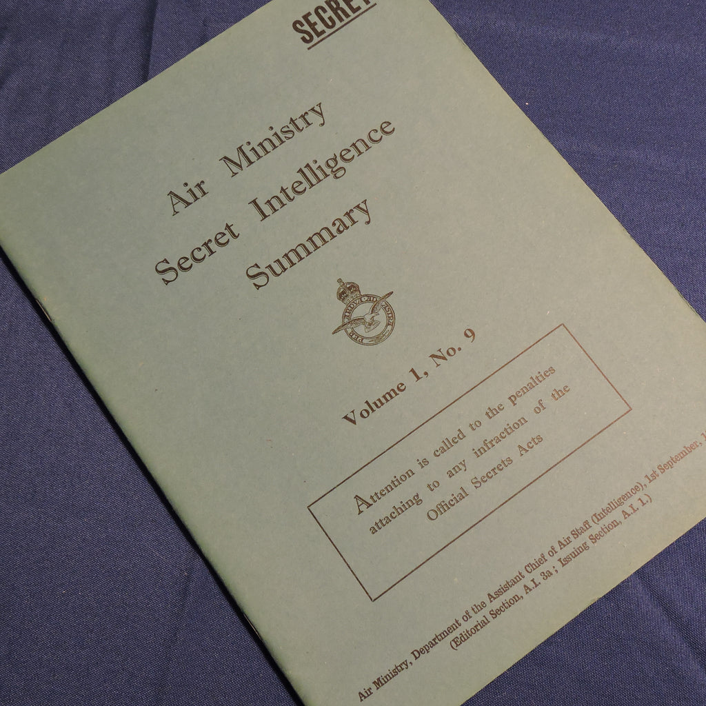 Air Ministry Secret Intelligence Summary Vol 1, No 9, 1946