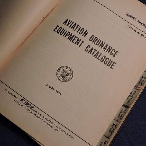 Aviation Ordnance Equipment Catalog 865, 1944