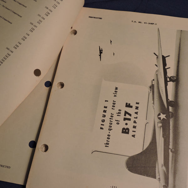 B-17F Flying Fortress Flight Operating Instructions 1942