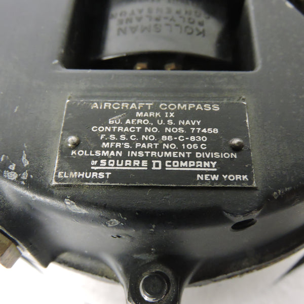 Compass, Magnetic Direct Reading, US Navy Mark IX