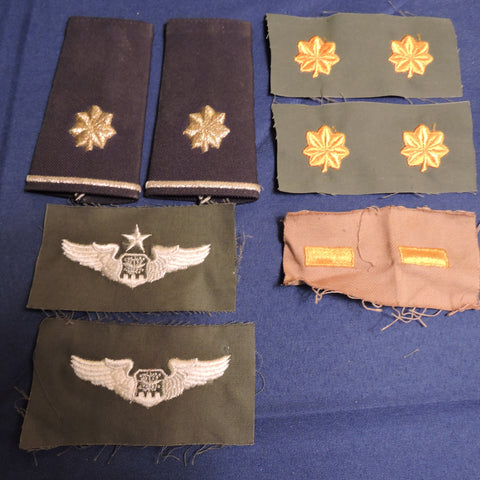 US Air Force Embroidered Rank Insignia and Epaulets
