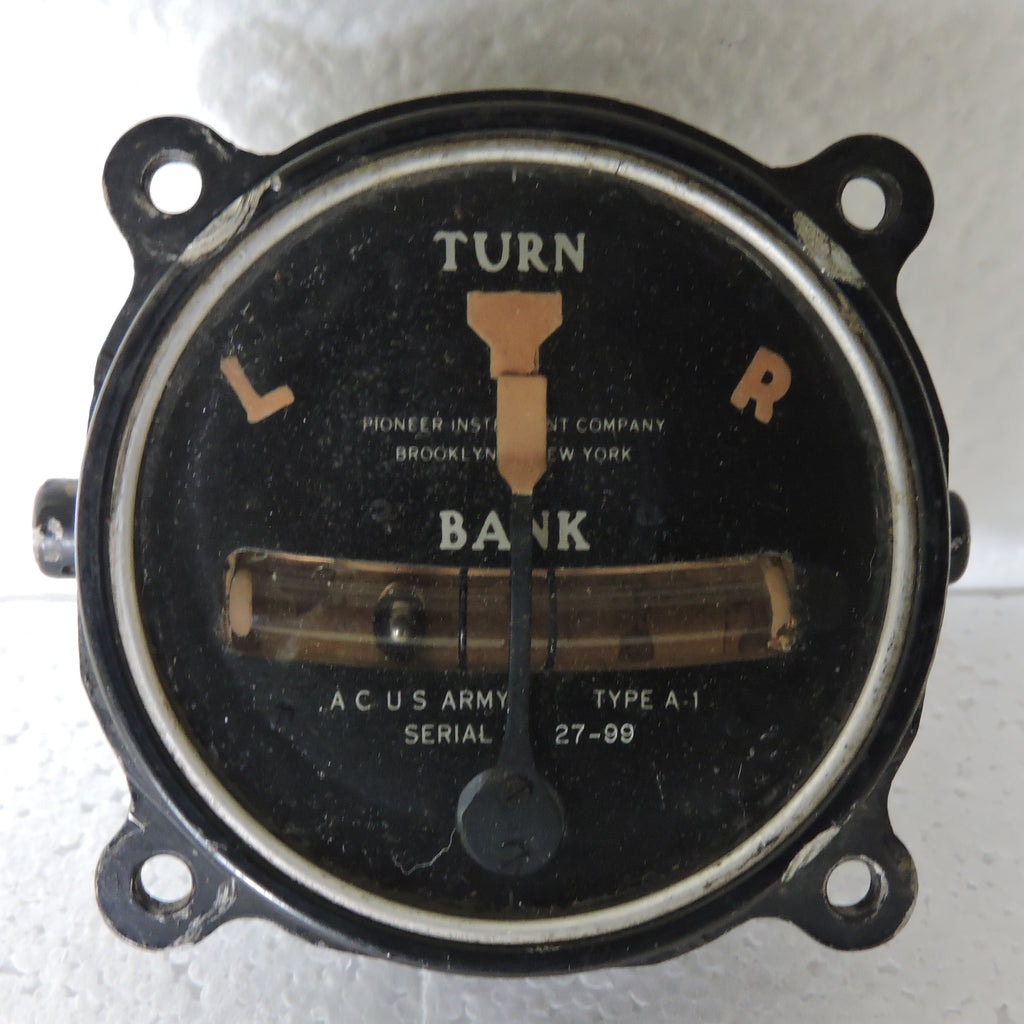 Turn and Bank Indicator (Face only), Type A-1 Pre-WWII
