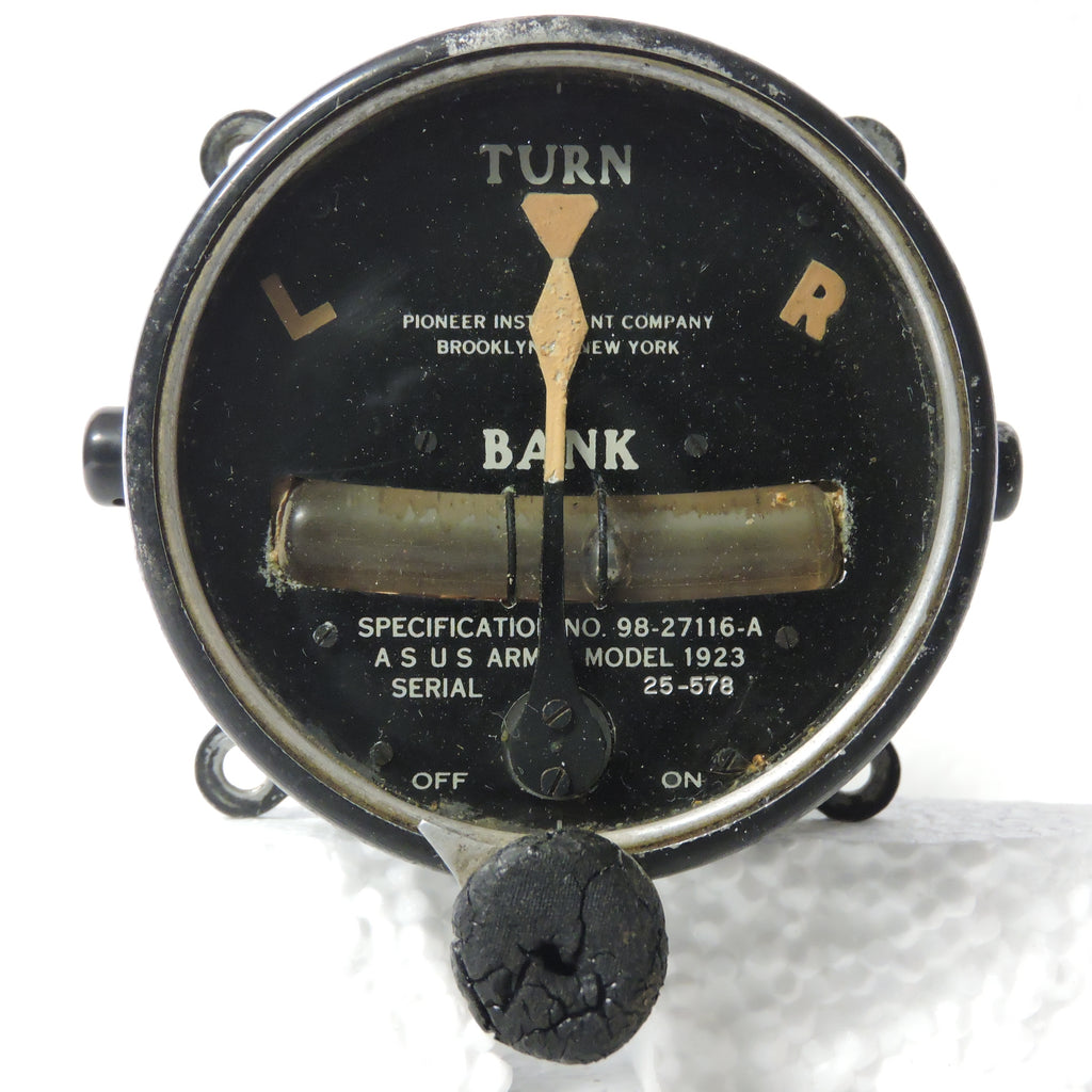 Turn and Bank, Pre-WWII, Model 1923, Air Service US Army