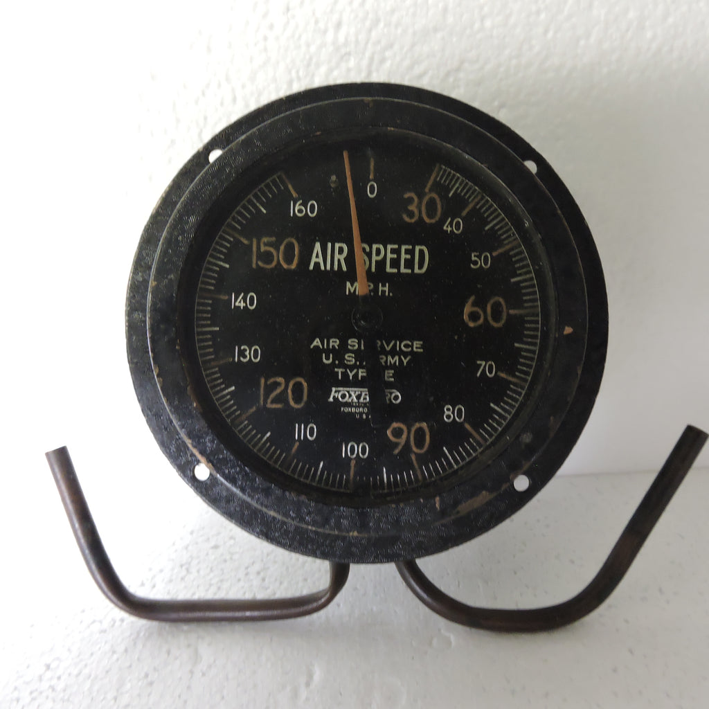 Airspeed Indicator, Post-WWI, US Army Type E, 160 MPH