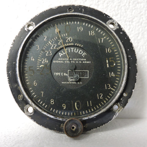 Altimeter, Tycos Type C, 25,000FT, WWI Aviation Section Signal Corps US Army