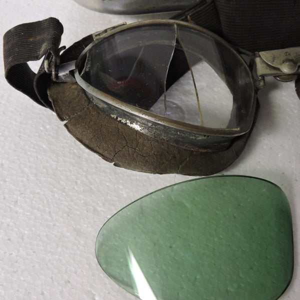 Luxor Airex King of the Air Flying Goggles Type B-2 with Case and Sunshade Lenses