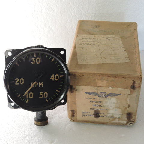 Tachometer, Mechanical, British RAF Mk IXG Ref 6A/1191 in Original Box