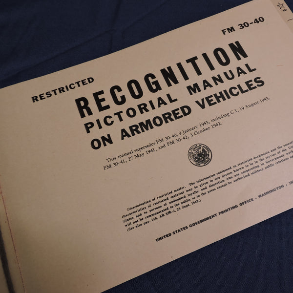 Recognition Manual, Armored Vehicles, FM 30-40