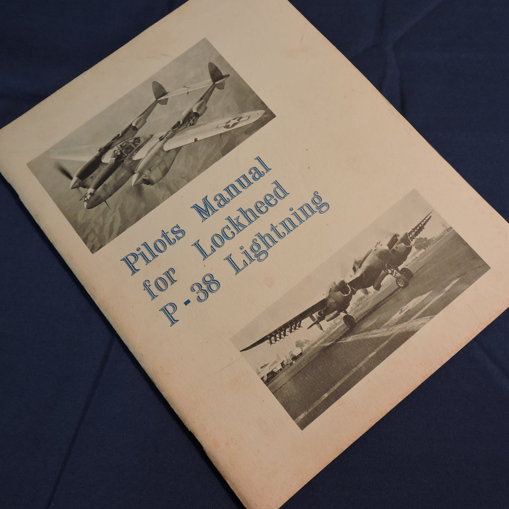 P-38 H, J, L  Lightning Pilots Manual Reprint