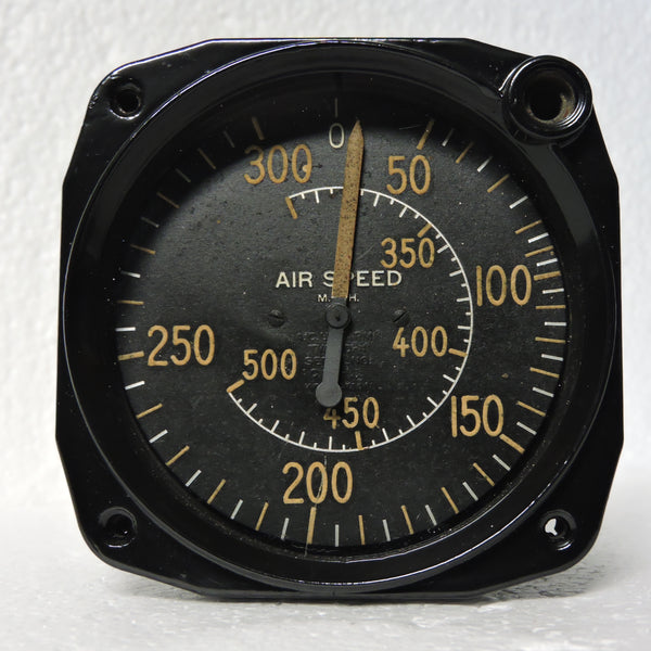 Airspeed Indicator, 500 MPH PN386-024 Type D-4