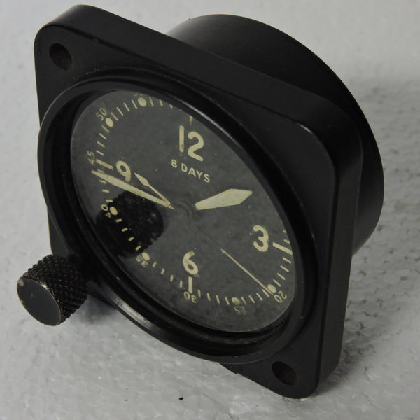 Aircraft Clock, 8-day, Type A-11 PN 21AE For parts or repair
