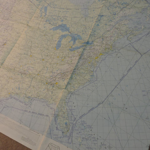 Global Navigation and Planning Chart GNC-2 North America Ed 9 1980