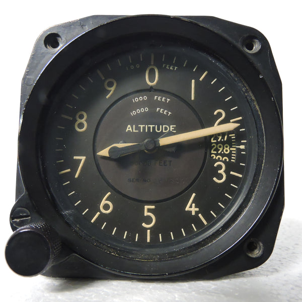 Altimeter, Sensitive, Type C-12, 50,000 ft, US Army Air Force WWII