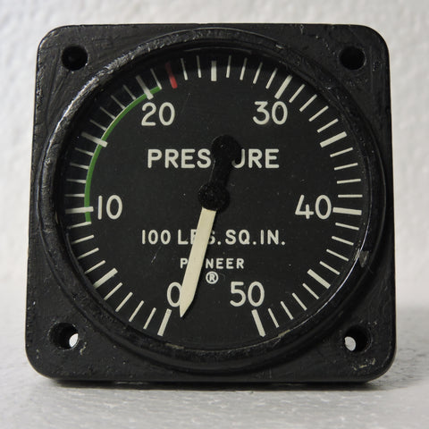Pressure Gauge, 50PSI, Type 24100-45C-21-A1