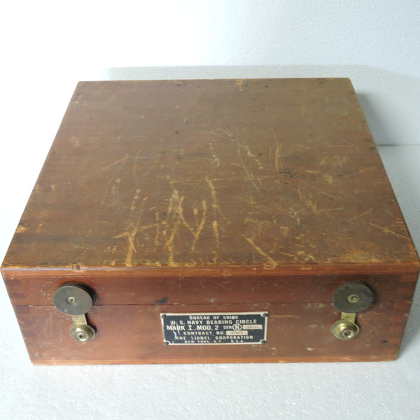 Bearing Circle, US Navy, Mk I Mod 2, 1943, in Wooden Case
