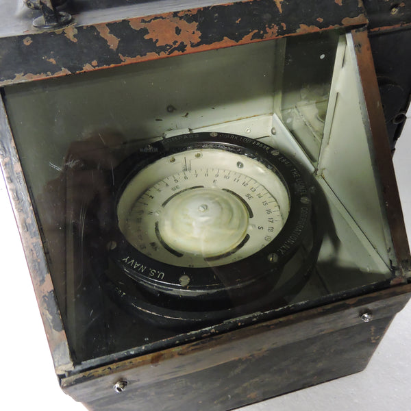 "US Navy 4"" Boat Compass with Binnacle, Lionel 1942"