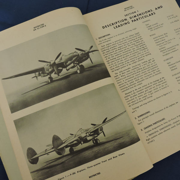 P-38L Lightning Erection and Maintenance Manual AN 01-75FF-2 1945