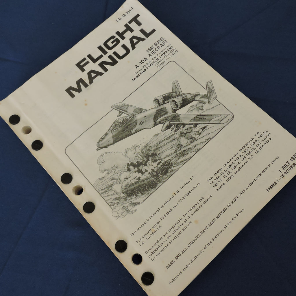 A-10 Warthog Flight Manual 1980