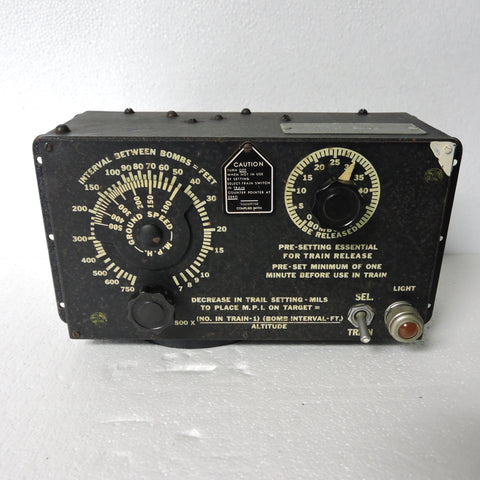 Bomb Release Interval Control Panel Type B-2A