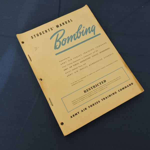 Bombing - Students' Manual, US Army Air Force Training Command WWII
