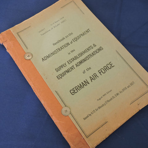 Luftwaffe Equipment and Supply Administration 1943, Secret Translation by Air Ministry