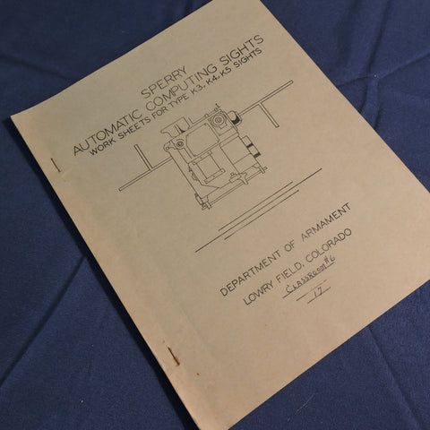 Training Manual, Sperry Automatic Computing Gunsights Type K3, K4, K5