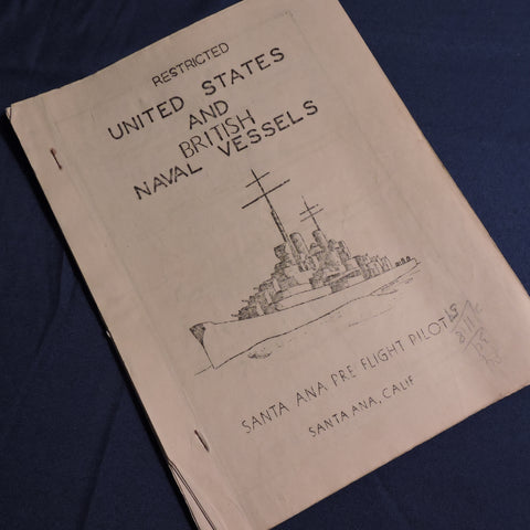 WWII Recognition Training Workbook, US and British Naval Vessels