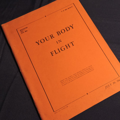 Your Body in Flight TO No 00-25-13 Training Manual