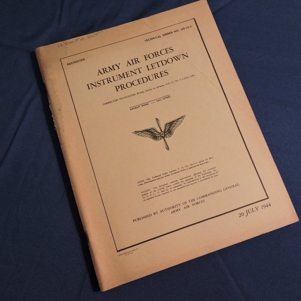 USAAF Instrument Letdown Procedures TO 08-15-3 July 1944