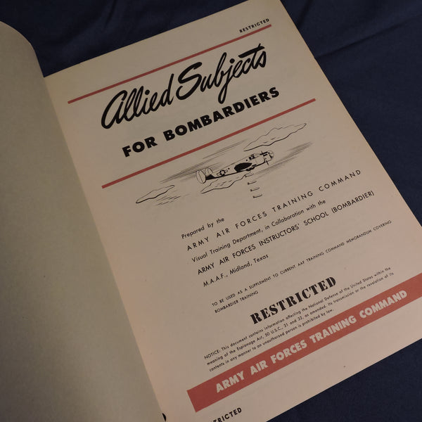 Allied Subjects for Bombardiers, USAAF Training Manual
