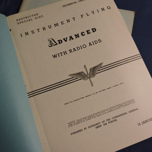 Instrument Flying Training Manuals, Set of 4, USAAF WWII