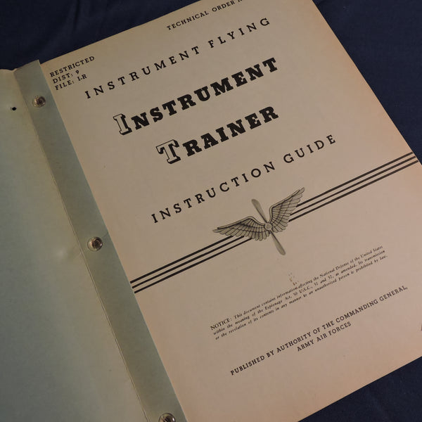 Instrument Flying, Ground Trainer (Link Trainer), Instruction Guide, USAAF WWII
