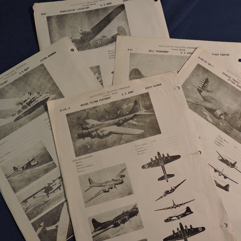 Recognition Training Program 5 Page Set WWII