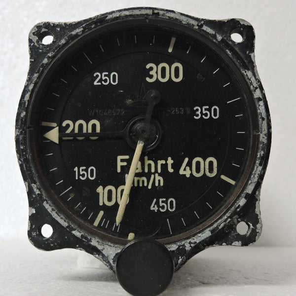 Airspeed Indicator (for 3-Axis Control), 450 km/hr, Luftwaffe