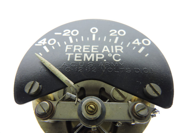 Free Air Temperature Indicator Type C-12 US Army Air Corps Weston 102134