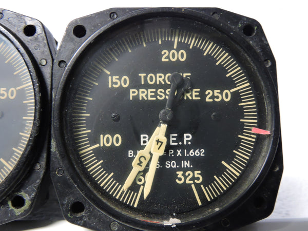 Torque Pressure / BMEP Indicators, Dual Engines 1&2, 3&4, C-121 Lockheed Constellation
