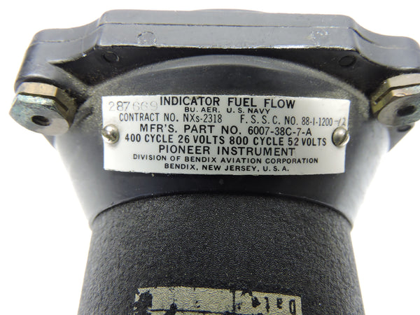 Fuel Flow Indicator, Dual, Engines 1&2, Bendix, C-121 Lockheed Constellation