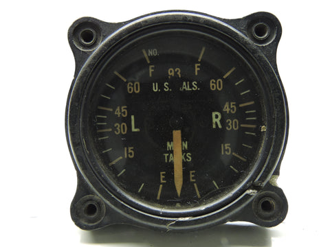 Fuel Quantity Indicator, Main Tanks, P-38 Lightning, General Electric 8DJ12LAE